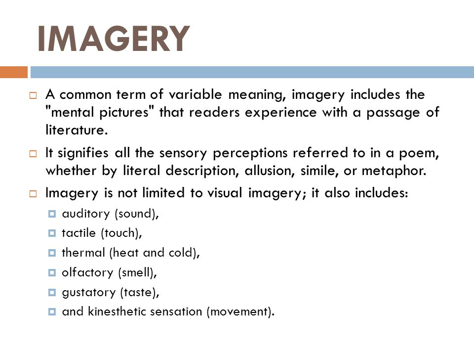 28 DEFINITION OF VISUAL IMAGERY IN POETRY