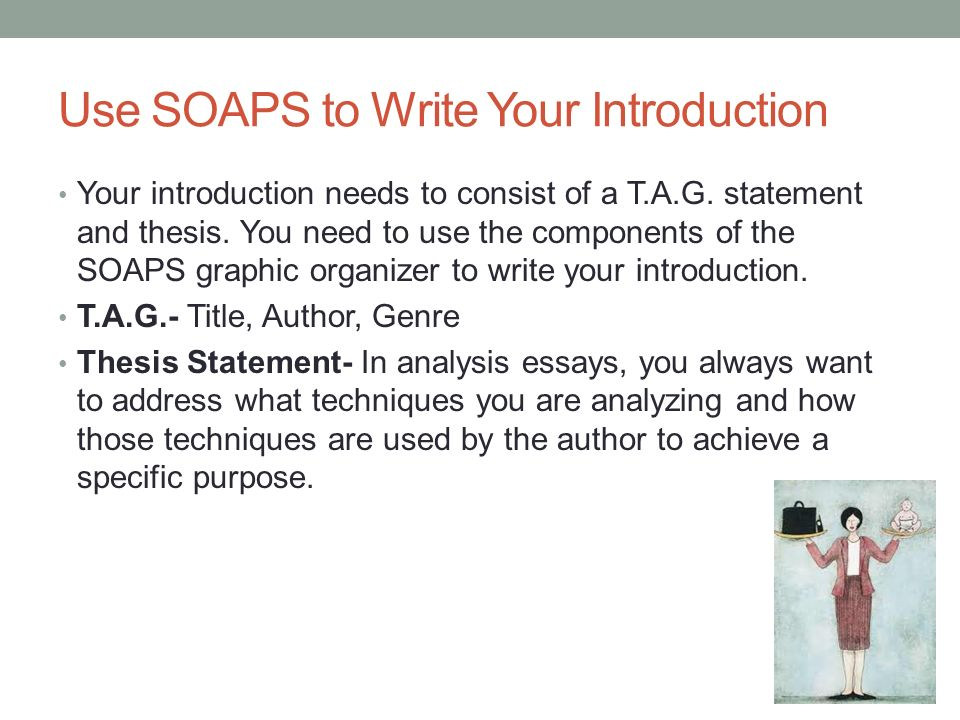 Use SOAPS to Write Your Introduction
