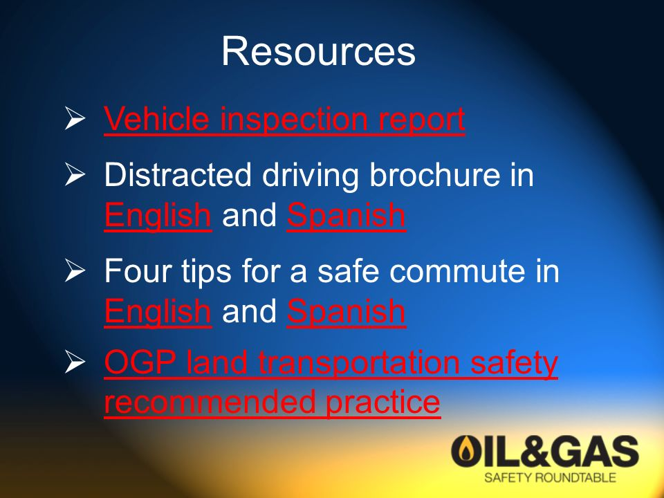 Resources Vehicle inspection report