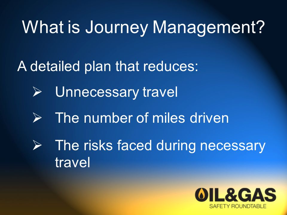 What is Journey Management