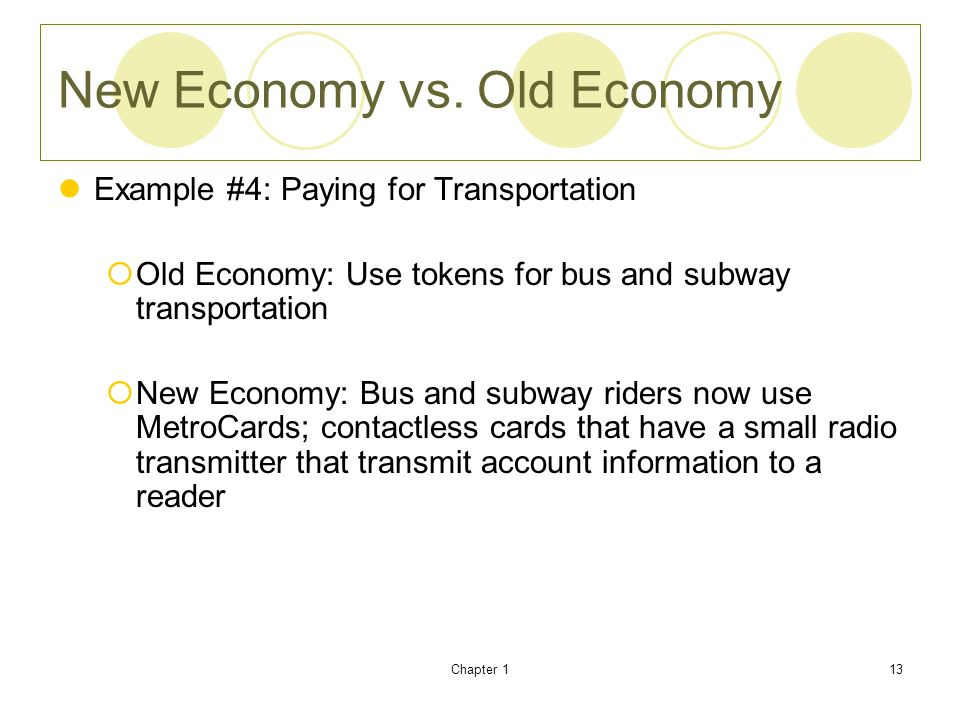 New Economy vs. Old Economy