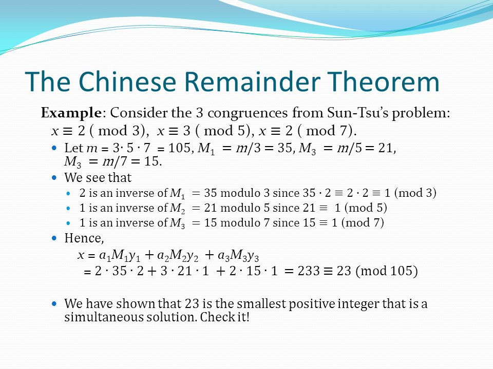 Number Theory And Cryptography Ppt Download