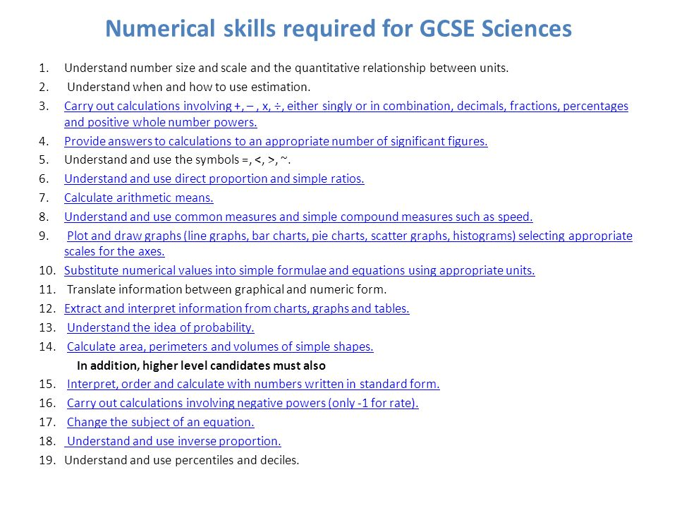 Numeracy In Science A Common Approach Ppt Video Online Download