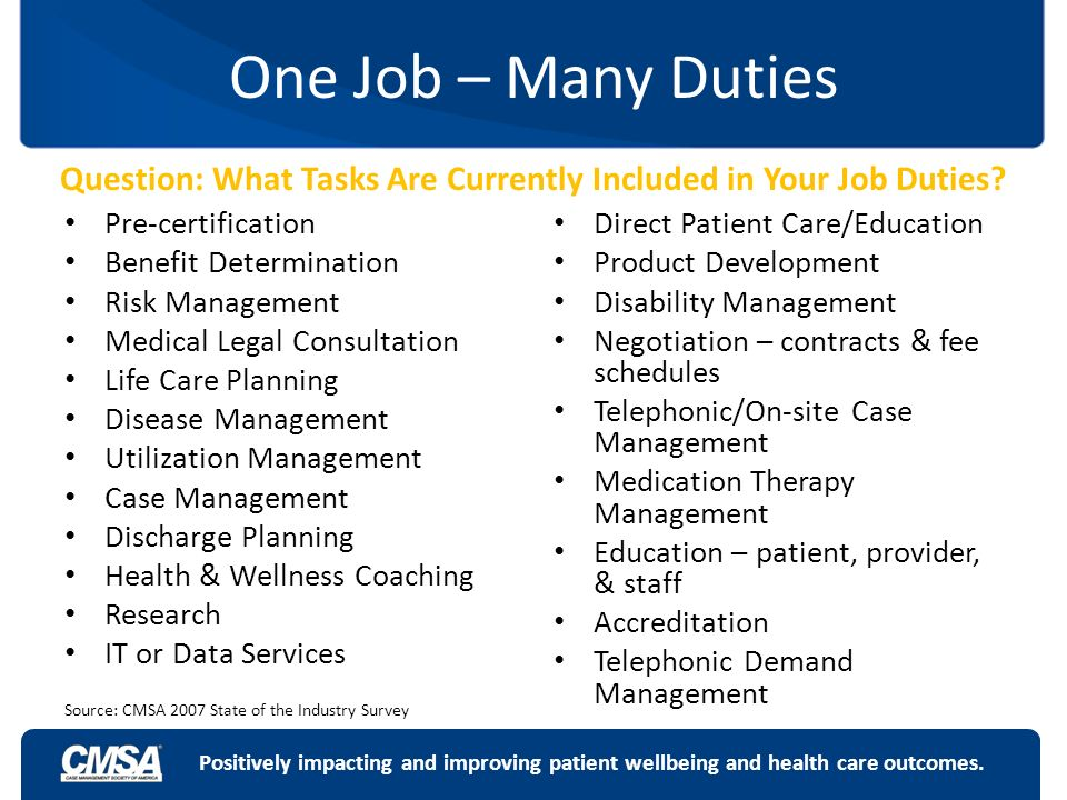 Question: What Tasks Are Currently Included In Your Job Duties