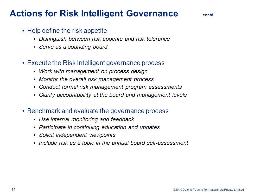 Enterprise Risk Management (ERM) as an essential tool for good