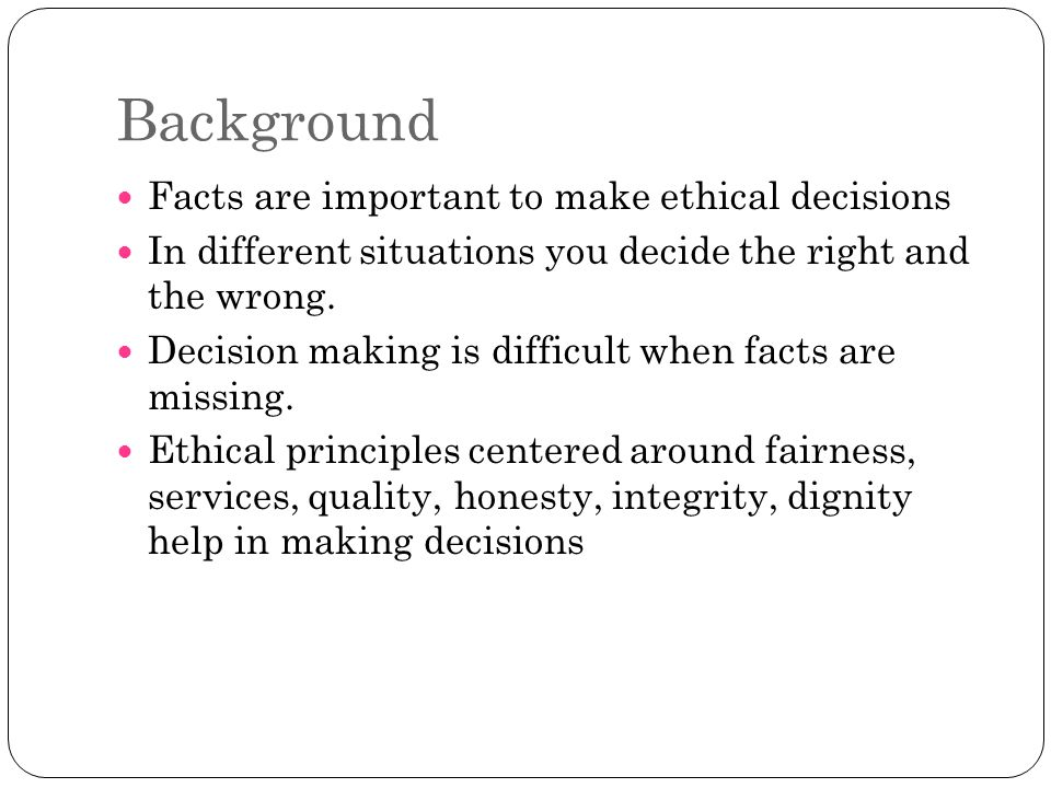 ethical integrity and why it is important