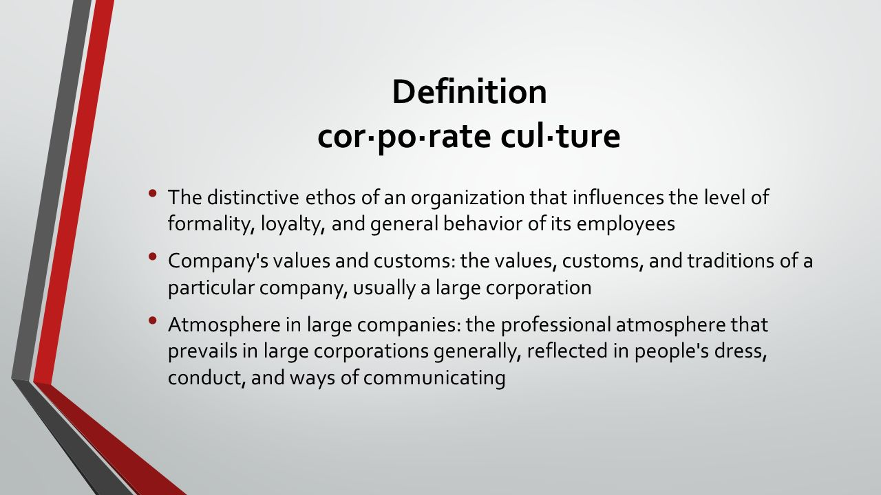 company ethos definition