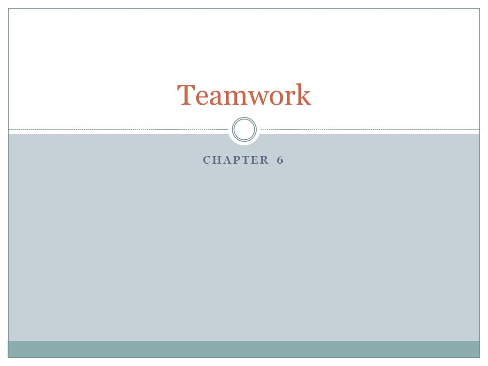 Teamwork Chapter 6