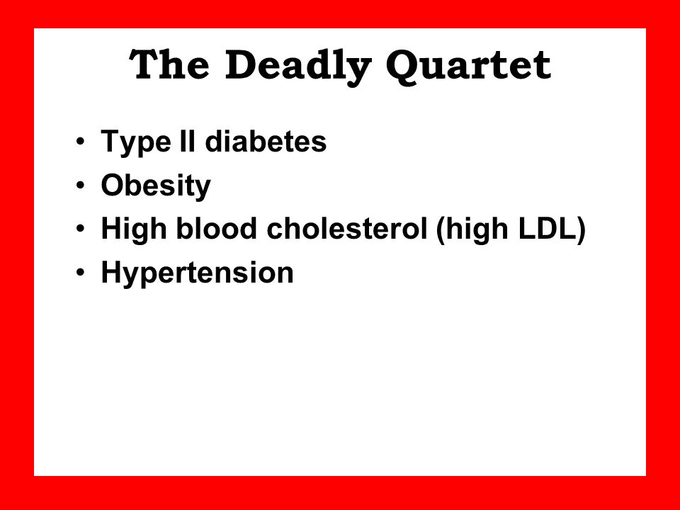 The Deadly Quartet Type II diabetes Obesity