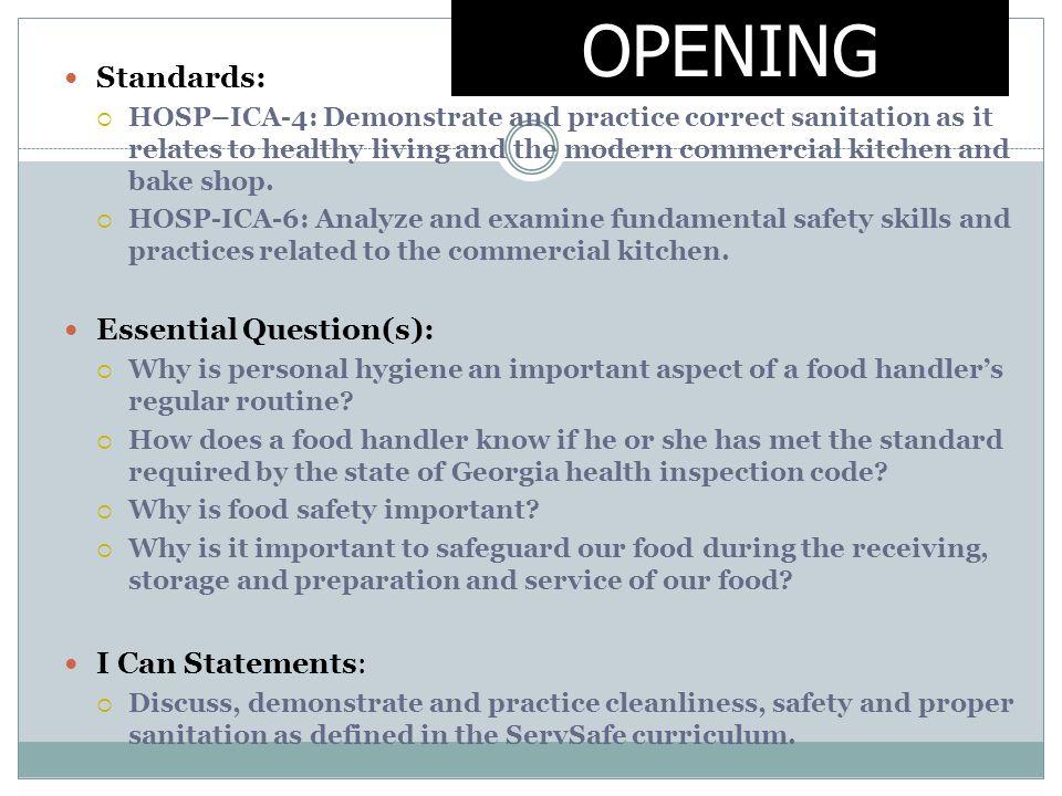 Food And Kitchen Safety And Sanitation Checklist - Kitchen