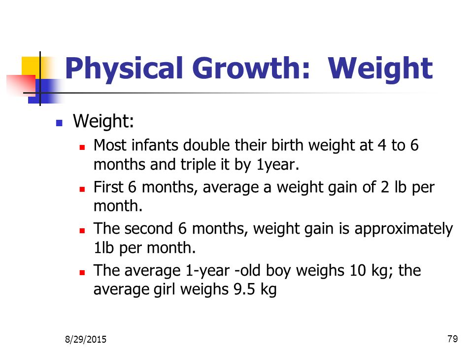 Physical Growth: Weight
