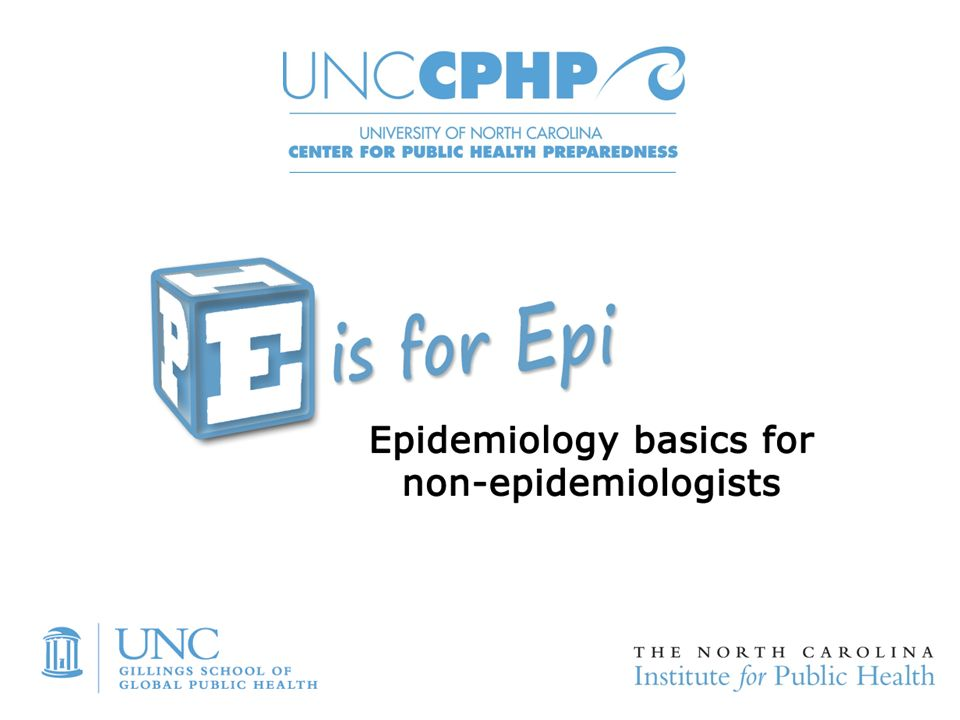 """Welcome to """"E is for Epi: Epidemiology Basics for Non ..."""