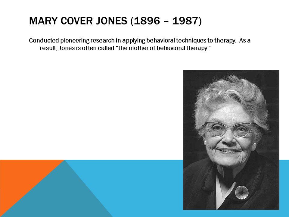 mary cover jones theory