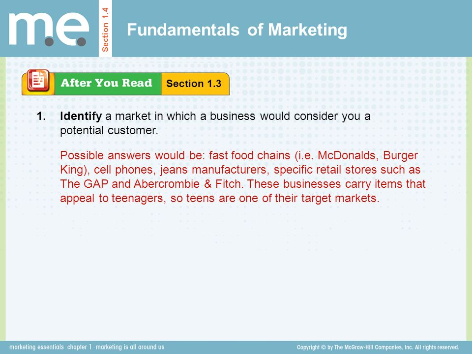 Chapter 1 marketing is all around us Section ppt video ...