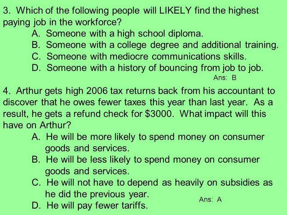 Personal Finance Overview People S Income In Part Reflect Choices