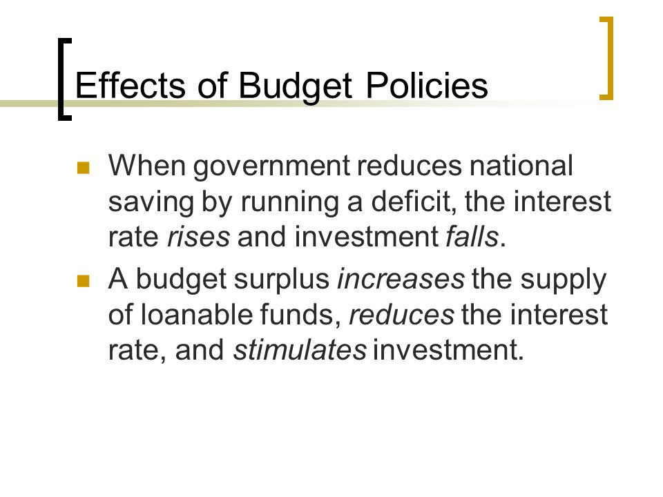 Effects of Budget Policies