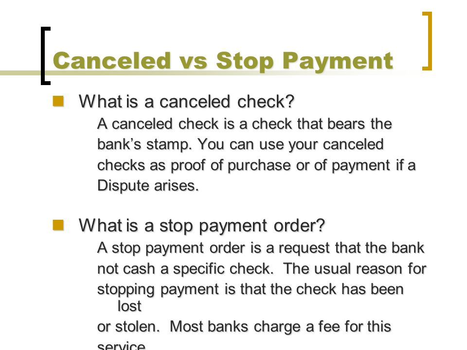 application for stop payment of cheque in bank