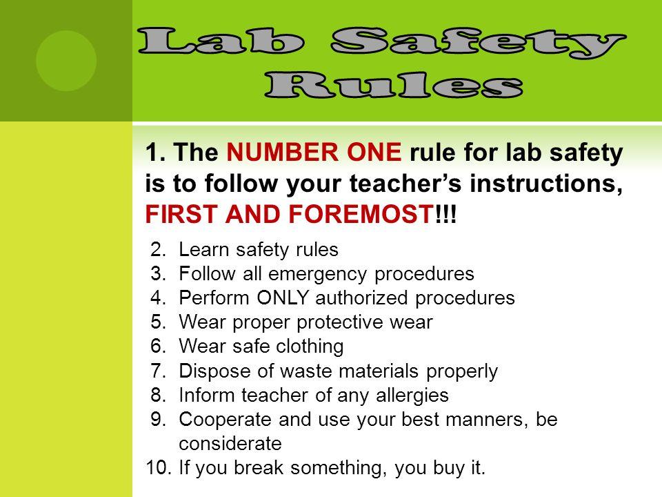 Lab Safety Rules Symbols Ppt Video Online Download