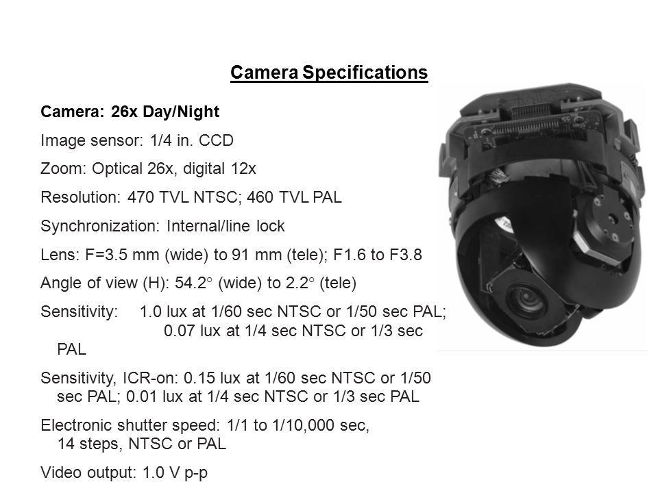 Camera Specifications