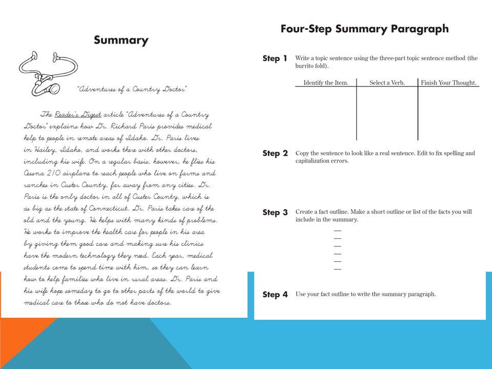summarize paragraph tool