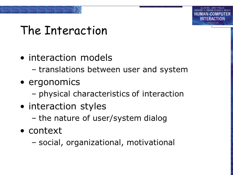 Chapter 3 the interaction  - ppt video online download