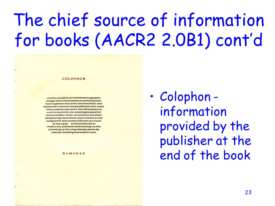 Basic Copy Cataloging (Books) - ppt download