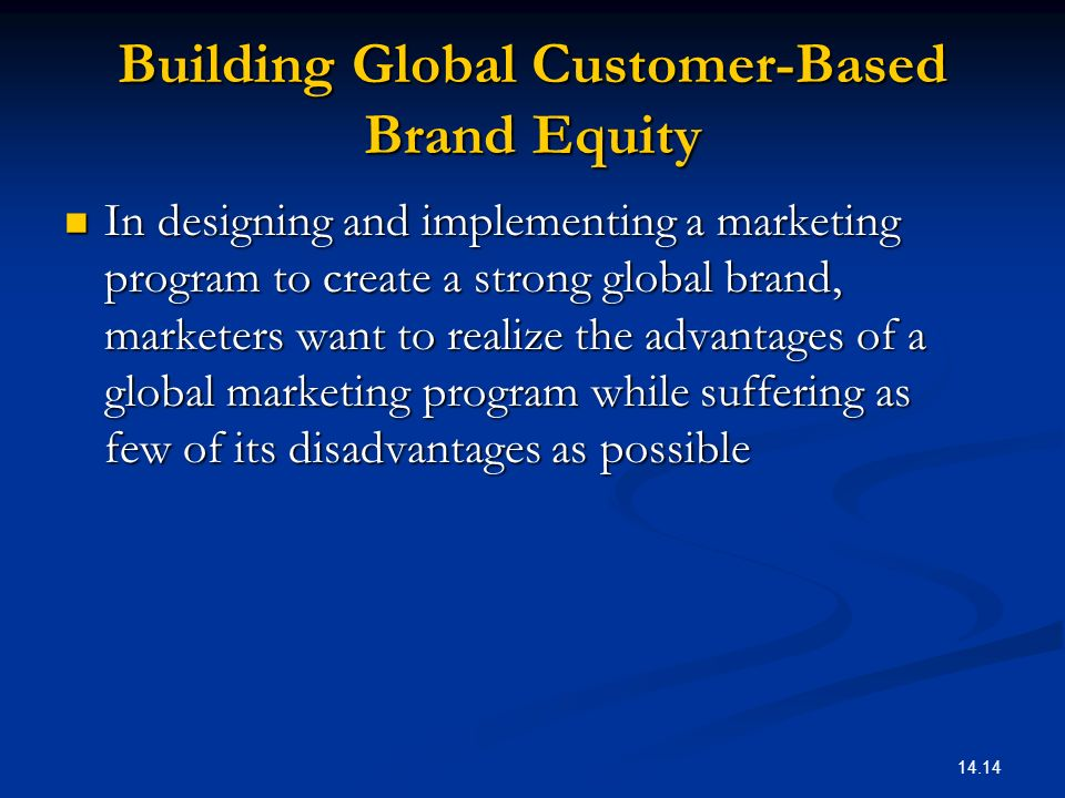 Building Global Customer-Based Brand Equity
