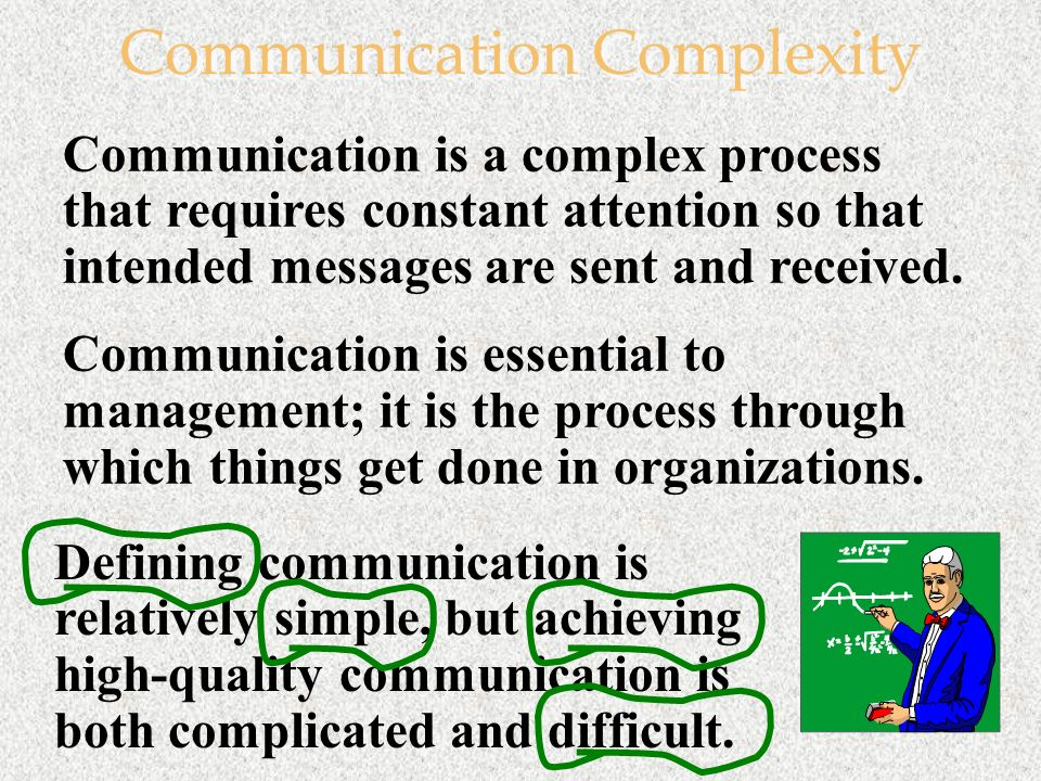 communication is a complex process
