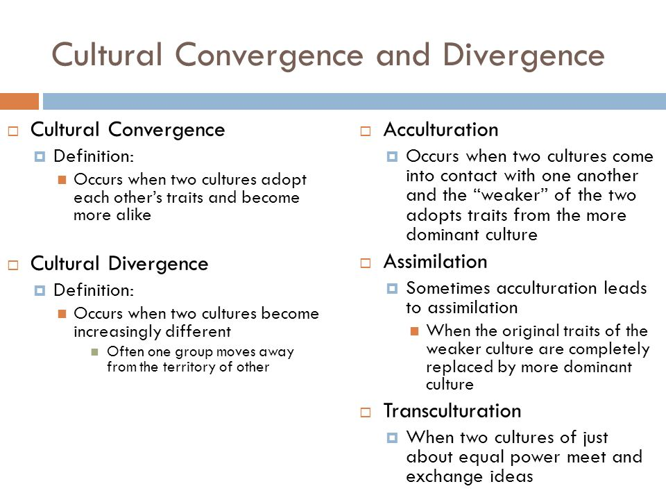 definition for cultural divergence