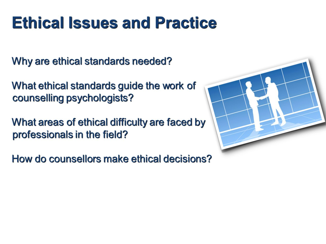 ethical practice in counselling