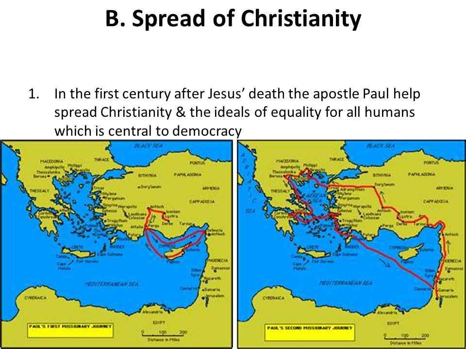 B. Spread of Christianity