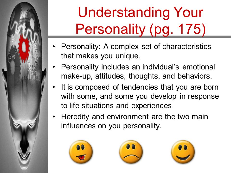 Understanding Your Personality (pg. 175)