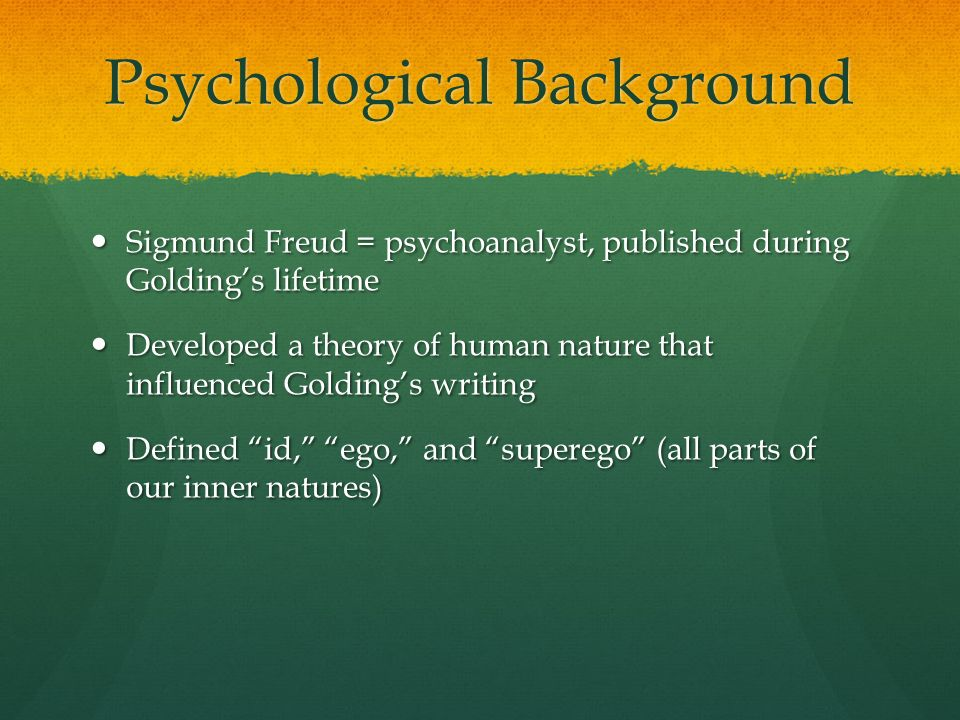 lord of the flies freudian psychology