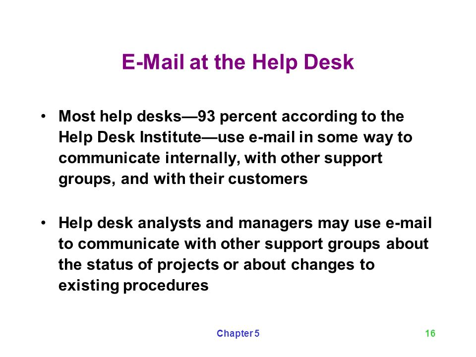 At The Help Desk