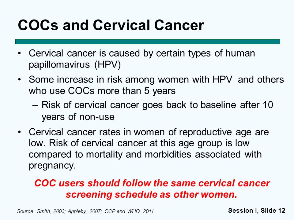 COCs and Cervical Cancer