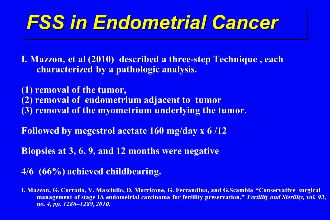 Endometrial cancer ovarian preservation. Cancer endometrial - Wikipedia