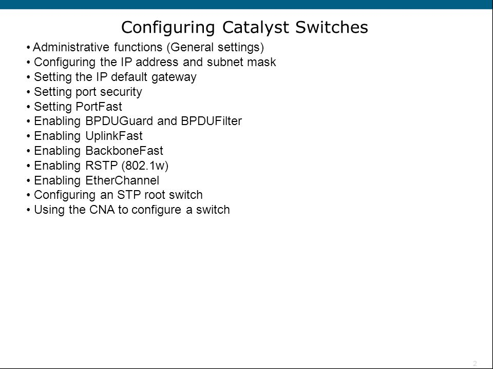 Configuring Catalyst Switches