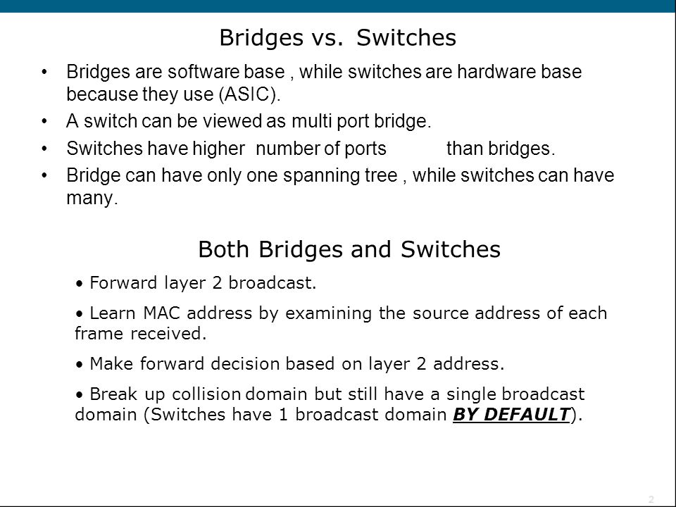 Both Bridges and Switches