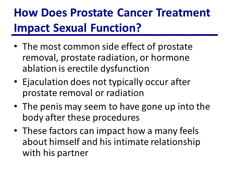 Prostate removal and sexual dysfunction