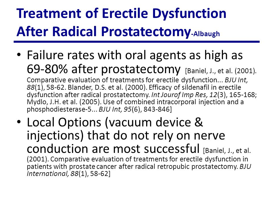 Sexual function after radical prostatectomy