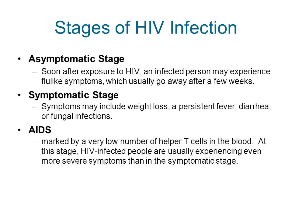 Stages of HIV Infection