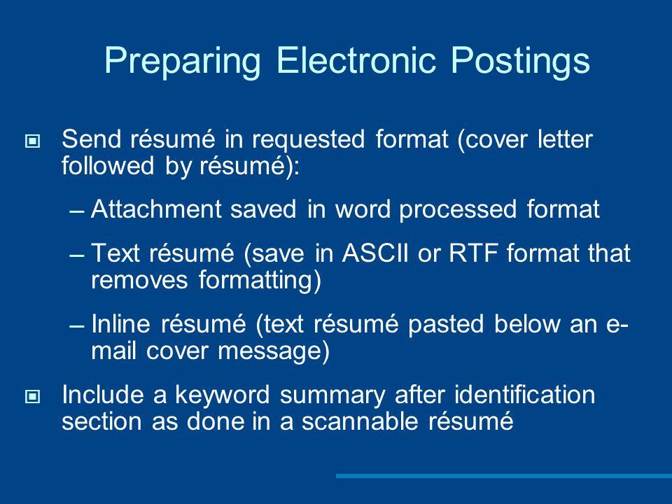 Chapter 13 Preparing Résumés and Application Letters. - ppt video ...
