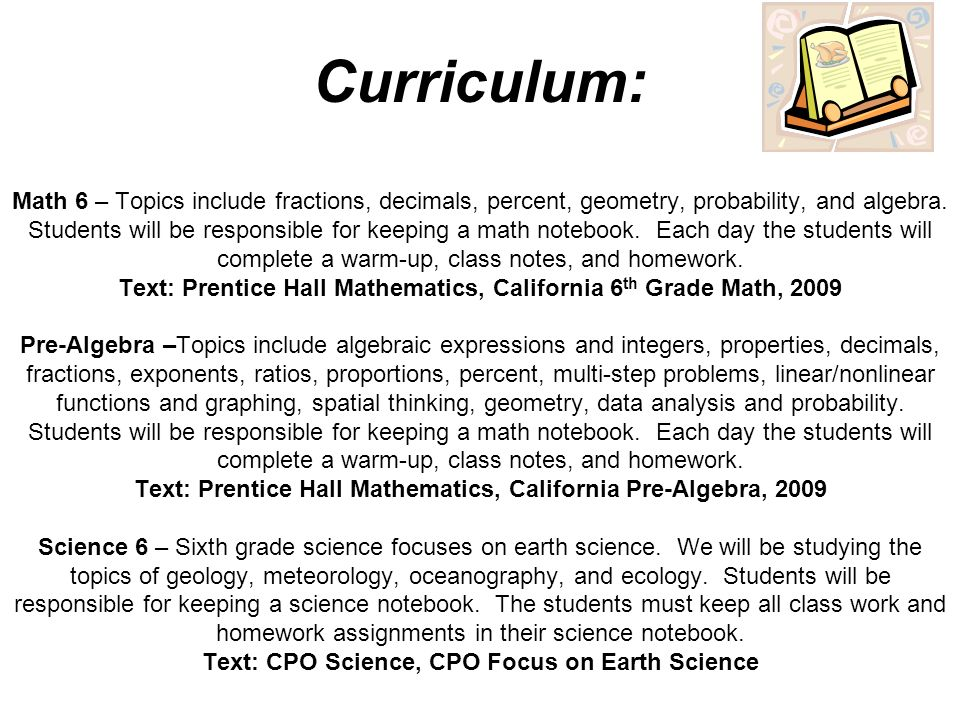 Welcome To 6th Grade Math Science Mrs Flores Room D Ppt