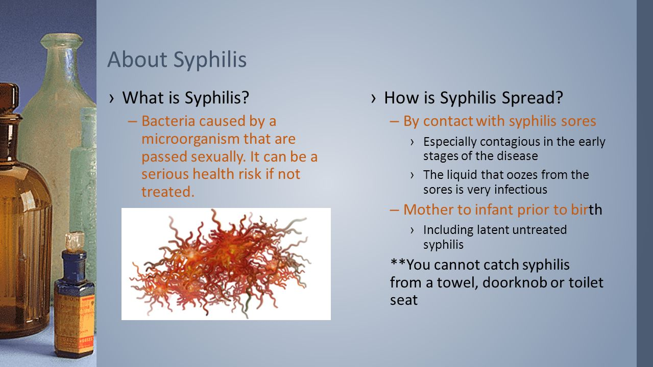 How is syphilis transmitted 55