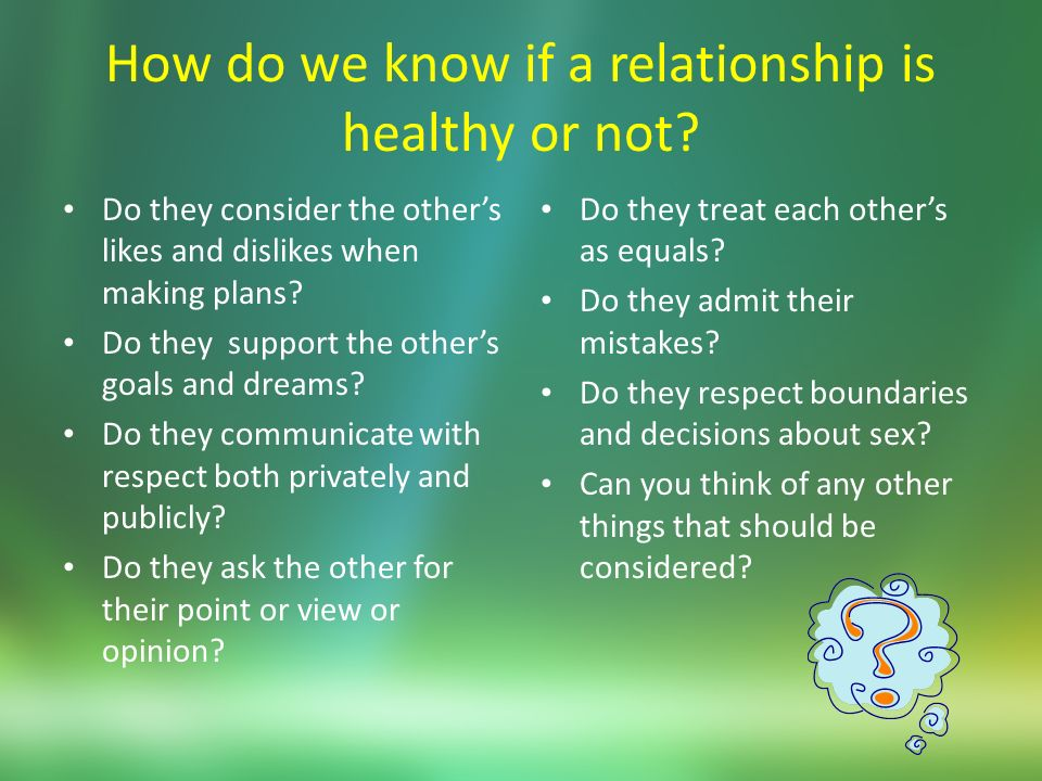 how to tell if your relationship is healthy