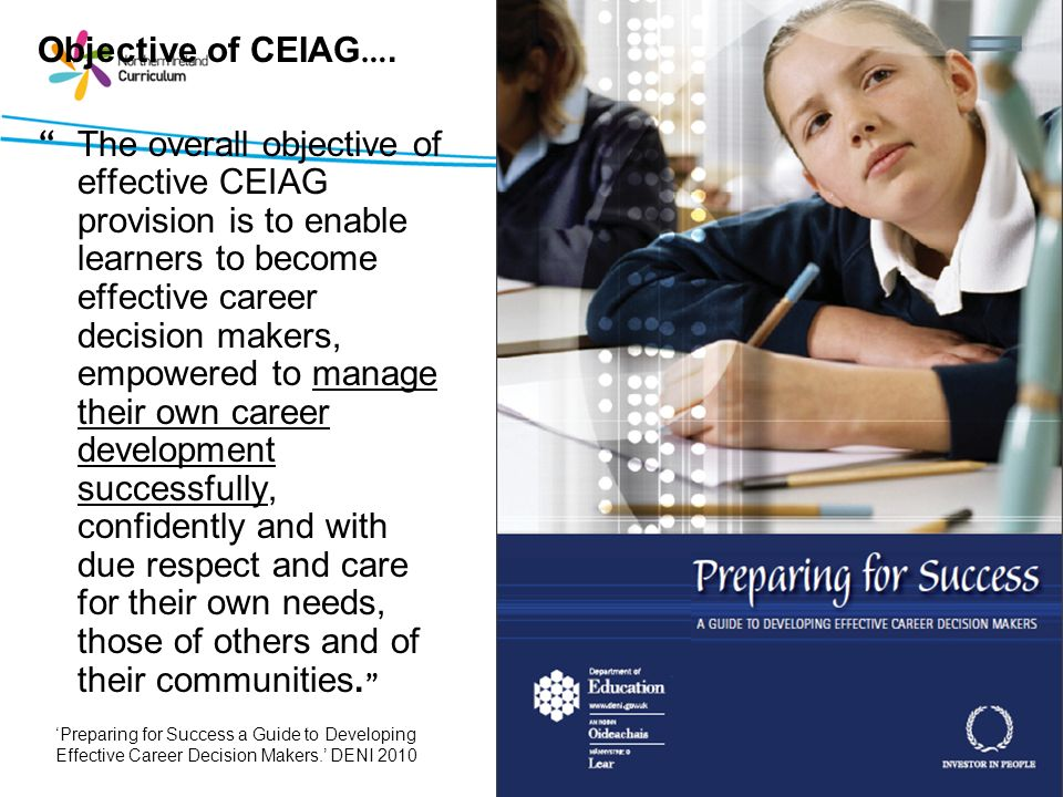 Objective of CEIAG….