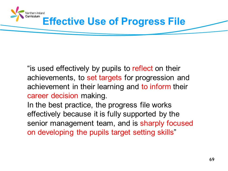 Effective Use of Progress File