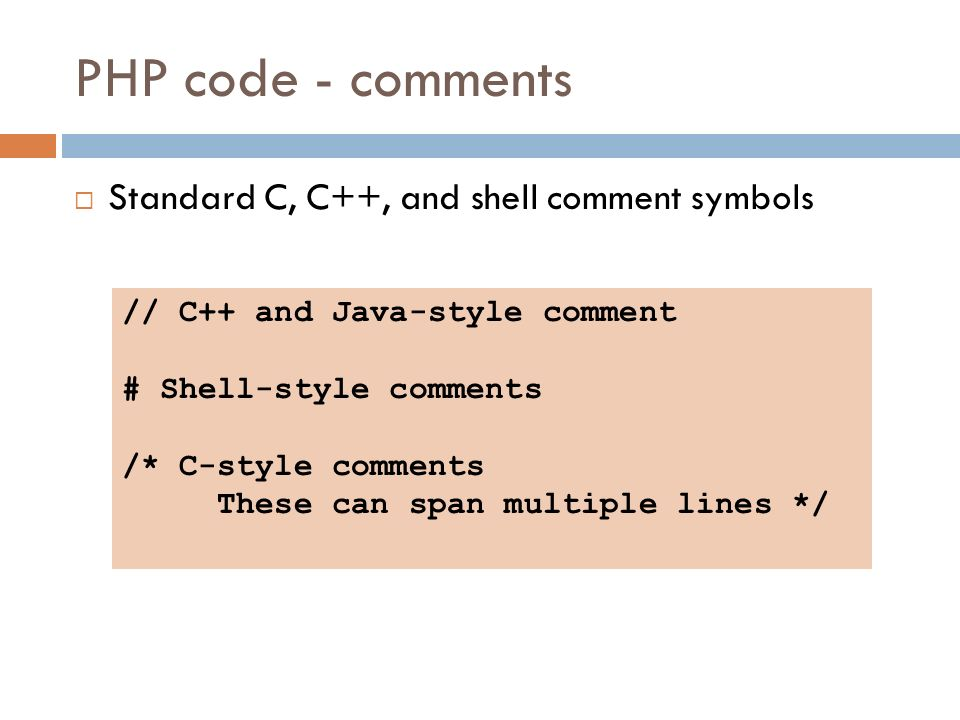 15 Php Code Comments Standard