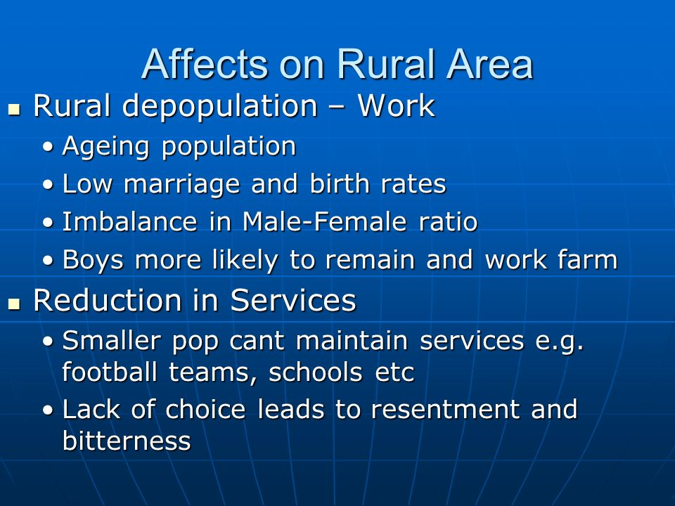 consequences of rural depopulation
