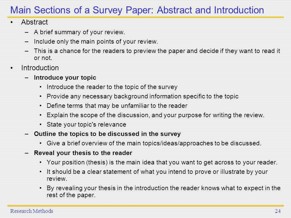 survey research abstract